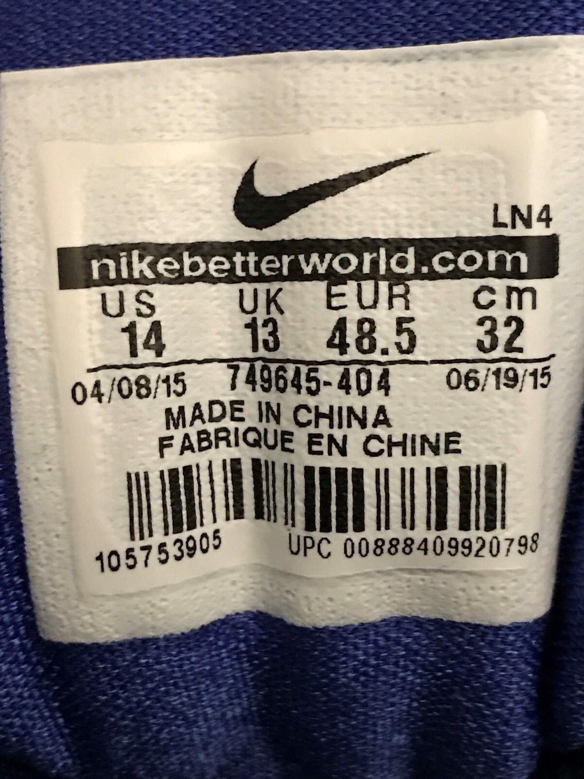 Nike 2015 HyperDunk Royal/Blue/White 749645-404 Sz 14 14 Sz b4c184