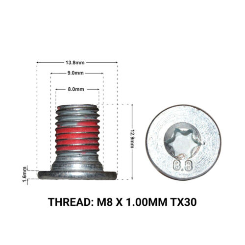 MERCEDES E CLASS W211 2002-2009 2 FRONT BRAKE DISC RETAINING SCREW DRS1661A