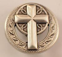 Religious Cross Screwback Concho Medallion With Screw Back