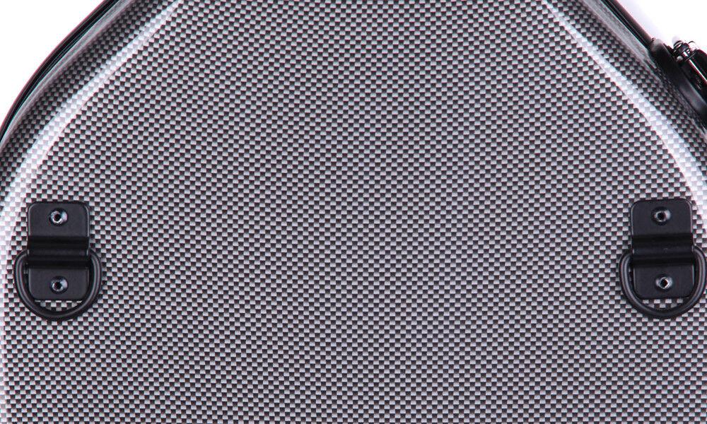 Brand New Original Tonareli Graphite Fiberglass lila Case w FREE Music Bag