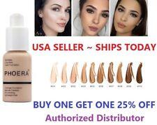 Phoera Foundation Makeup Full Coverage Liquid Base Brighten Long Lasting Shade