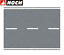 NOCH-H0-60703-Bundesstrasse-grau-100-x-8-cm-1-m-84-88-NEU-OVP Indexbild 1