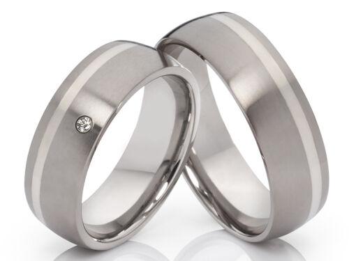 anillo boda alianza /& grabado 2 anillos de titanio plata
