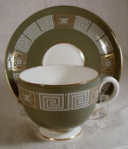 Wedgwood Asia Green Cup /& Saucer