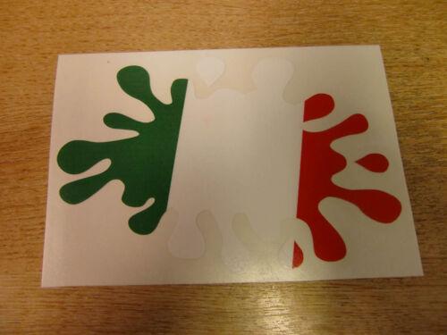 "decal Italian Flag /""paint splat/"" sticker"