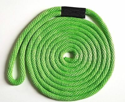 """LIME GREEN! Solid Braid Nylon Dock Line-1//2/"""" x 25/' Floats Fade Proof USA MADE"""