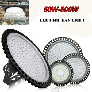 LED High Bay Light 100W 200W 300W UFO Factory Warehouse Industrial Shed Lighting