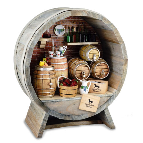 Reutter Porzellan Wine Cellar in Barrel//Complete Wine Cellar Dollhouse 1:12