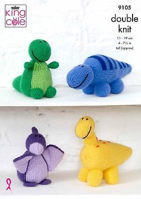 King Cole 9105 Knitting Pattern Childrens Dinosaur Toys in Big Value DK 5057886000704 | eBay