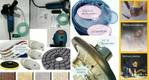 "Variable Speed Stone Wet Polisher 3//8/"" Bullnose dust shroud polish pad concrete"