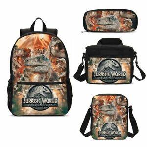 Jurassic-World-Dinosaur-Print-Kids-Backpack-Lunch-Bags-Sling-Pen-Case-Gifts-Lot