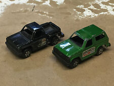Vintage Tootsietoy Ford Bronco and Chevy Step-Side Pickup