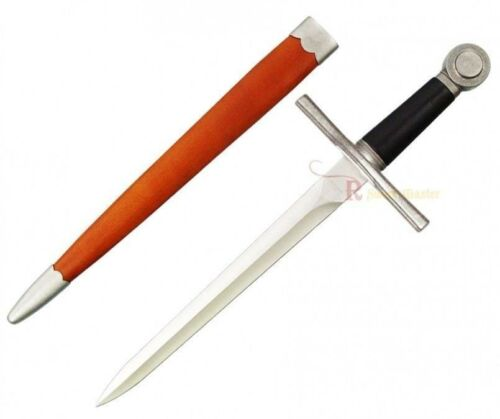"""18/"""" Medieval Arming Sword Crusader Dagger with Wood Scabbard Brand New"""