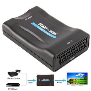 Scart zu auf HDMI Konverter Wandler AV Scaler Converter Adapter 1080P FT DE