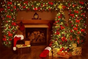 7x5ft Merry Christmas Tree Theme Background Photography Backdrops