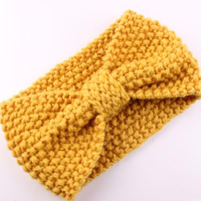 Crochet Hair Band Head Wrap Bow Keep Warm Knitted Hair Accessories Headband YW