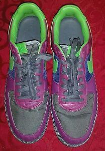 Nike Air Force 1 Purple/Green/Blue