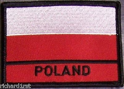 Embroidered International Patch National Flag of Poland NEW flag