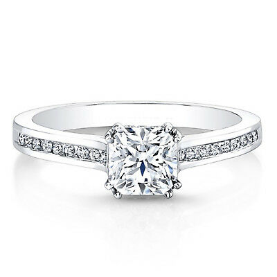 Jewelry & Watches Fine Jewelry Confident 0.65ct Cushion Cut Moissanite Engagement Ring 14k Solid White Gold Size L M N O Aromatic Flavor