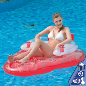 Jilong-Strawberry-Inflatable-Pool-Float-Lounger-Lilo-Mattress-Air-Bed-Water-Fun