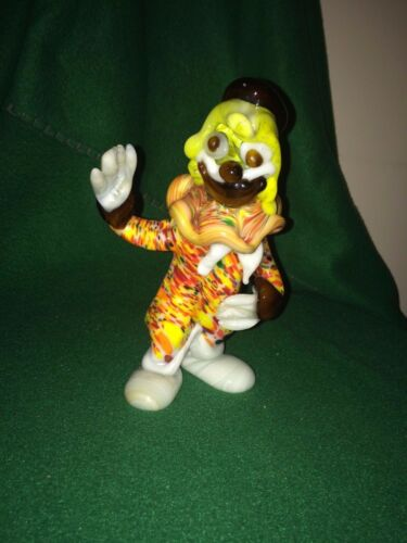 Vintage UNUSUAL CLOWN Hand Crafted & Painted COLLECTIBLE Work of Art ORIGINAL