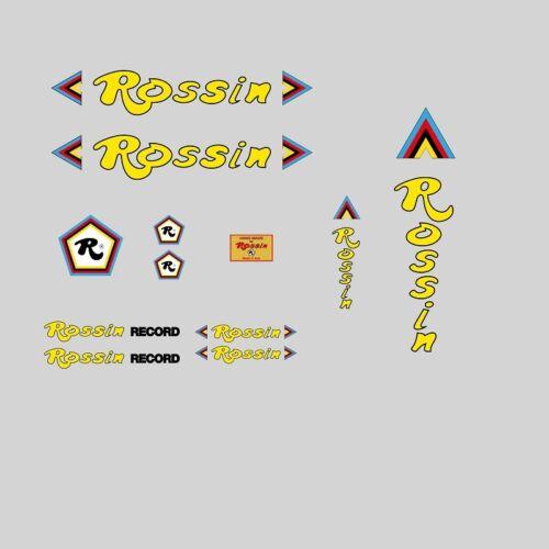 Gelb Transfer Rossin Record Fahrradrahmen Sticker N.9 Decals