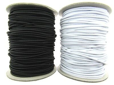 QUALITY ROUND ELASTIC BLACK OR WHITE 1.5mm WIDE X 100m ROLL ***