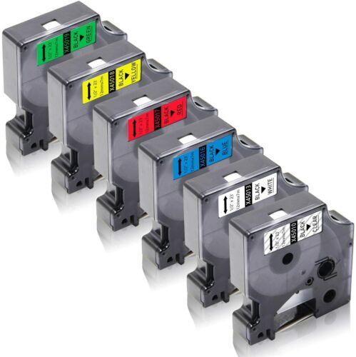 6x Kompatibel Schriftband zu Dymo D1 45010 45013 45016 45017 45018 45019 LM450