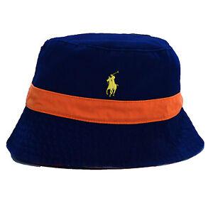Polo Ralph Lauren Mens Bucket Hat Solid Reversible Pattern Pony Logo ... bb4659b358b