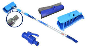 Image Is Loading 3m Aluminium Telescopic Water Fed Extending Wash Brush
