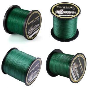8-Strands-Green-100-PE-Power-Dyneema-Braid-Fishing-Line-100m-300m-500m-1000m