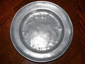 Rarität fast 200 Jahre alter Zinn Teller Zinnteller massiv Zinn 3 x gestempelt 4