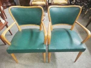 Coppia Poltrone Pelle.Dettagli Su Coppia Poltrone In Pelle Verde Design Vintage Modernariato