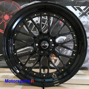 XXR-521-20-Black-Gold-Rivets-Staggered-Rims-Wheels-5x114-3-Fit-Infiniti-G35-Cpe