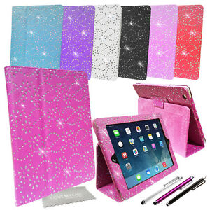 Diamond Bling Sparkly Leather Media Stand Case Cover For