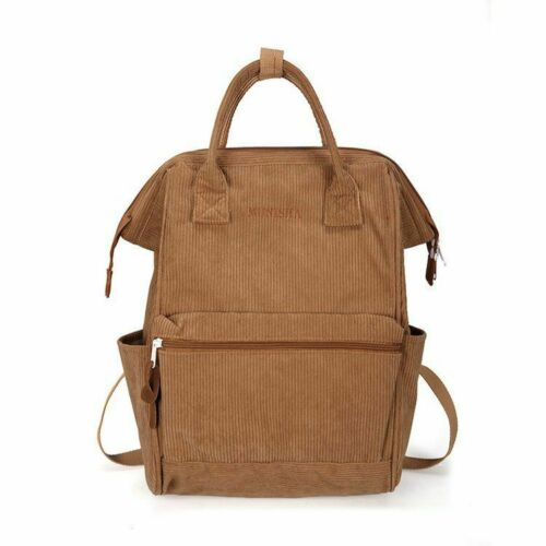 Corduroy Backpacks Women School Bags For Teenager Girls Mochila Large Capacity