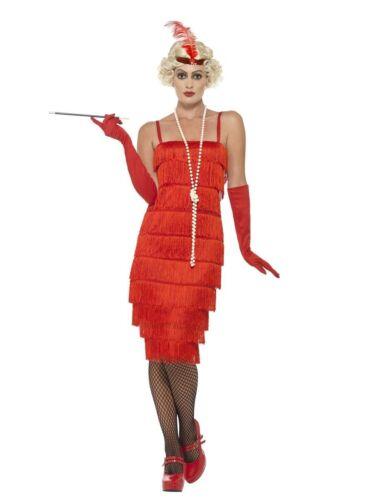 Women/'s anni 1920 anni/'30 Rosso Charleston Flapper Costume Grande Gatsby Gallina