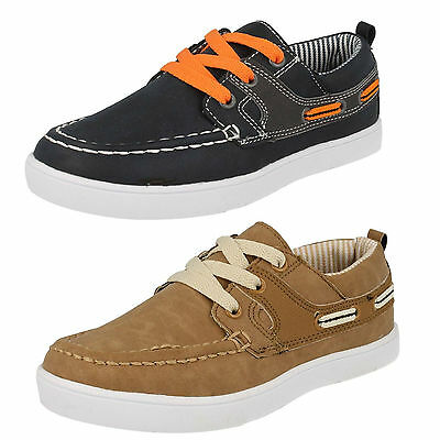 Boys JCDees N1090 PU Nubuck Casual Lace Up Summer Shoes