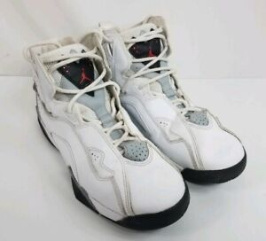 sports shoes 4505a aac72 Image is loading Nike-Air-Jordan-True-Flight-White-Cement-Red-