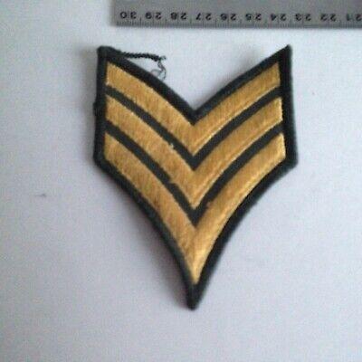 "5823 Green /& Yellow SERGEANT CHEVRON 3/"" x 3.75/"" iron on patch C12 Military"
