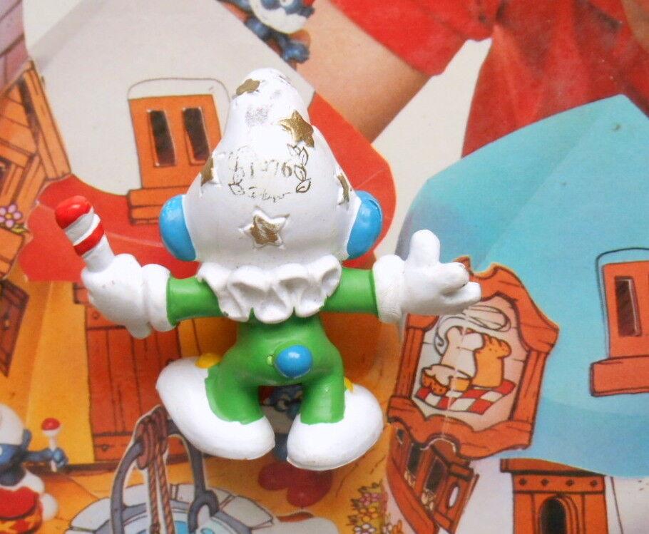 Schtroumpf pierred clown jubile Smurf puffi  pitufo puffo schtroumpfette 1976