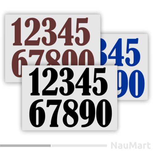 #ST061 NUMBER SET vinyl stickers