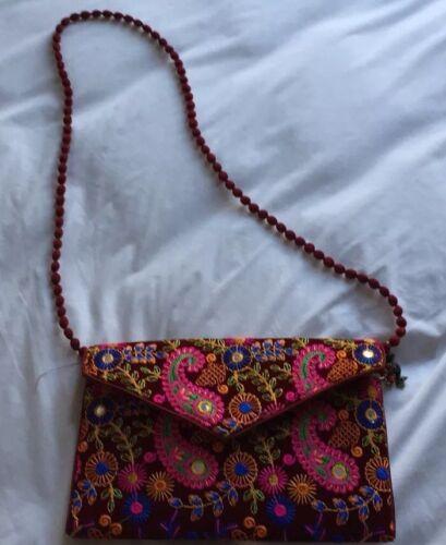 Ethnic Womens Clutch Purse Handmade Embroidered Bag zMpqVGLSUj
