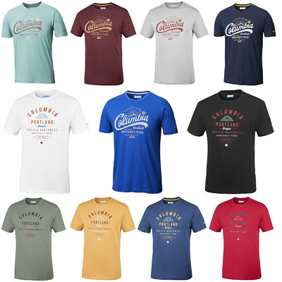 COLUMBIA Leathan Trail EM0729718 Cotton T-Shirt Short Sleeve Tee Mens All Size