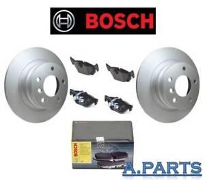 BOSCH-BELAGE-UND-BREMSSCHEIBEN-296-VOLL-HINTERACHSE-BMW-1ER-E87-E81-3ER-E90