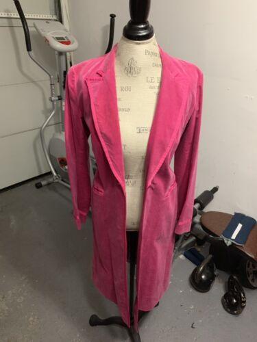 Hot Pink Velvet Trench Coat