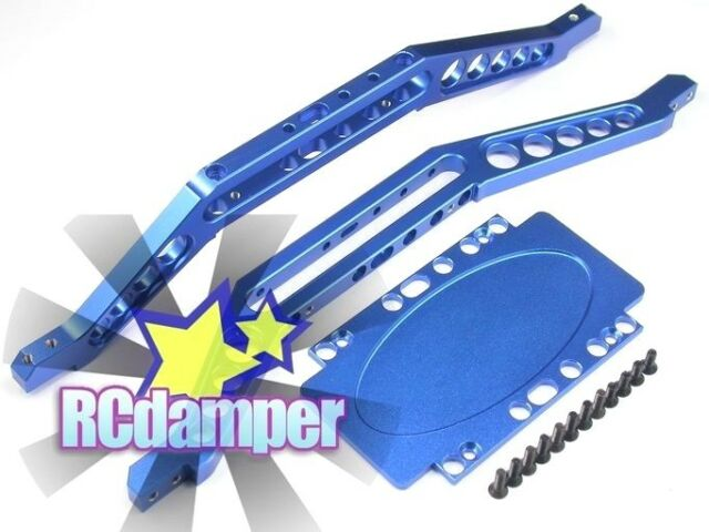 ALUMINUM LOWER CHASSIS BRACE PLATE B TRAXXAS T-MAXX 3.3 4907 4908 EXTENDED SKID