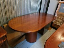 Cherry Finish 4to 6 Seater Conference Table With 4 Chairs