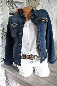 Jeansjacke jeans jacke strass perlen nieten dunkelblau - Jeansjacke perlen ...