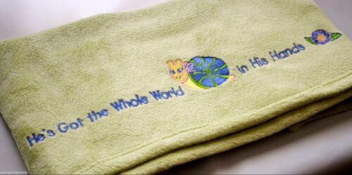 Baby Boys Girls Micro Fleece Blanket Snail Flower 30x40 Green Plush Throw Soft
